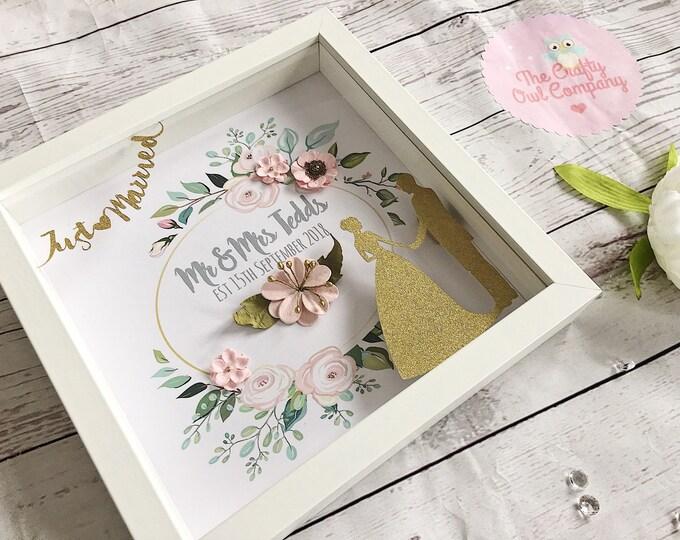 Wedding day keepsake gift framed print