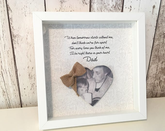 Father's Day in heaven memorial birthday and personalised gift keepsake