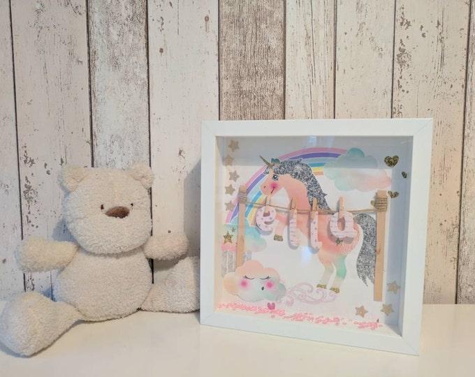 Personalised magical unicorn frame