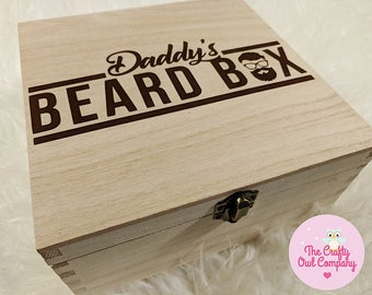 Daddy's Wooden beard box