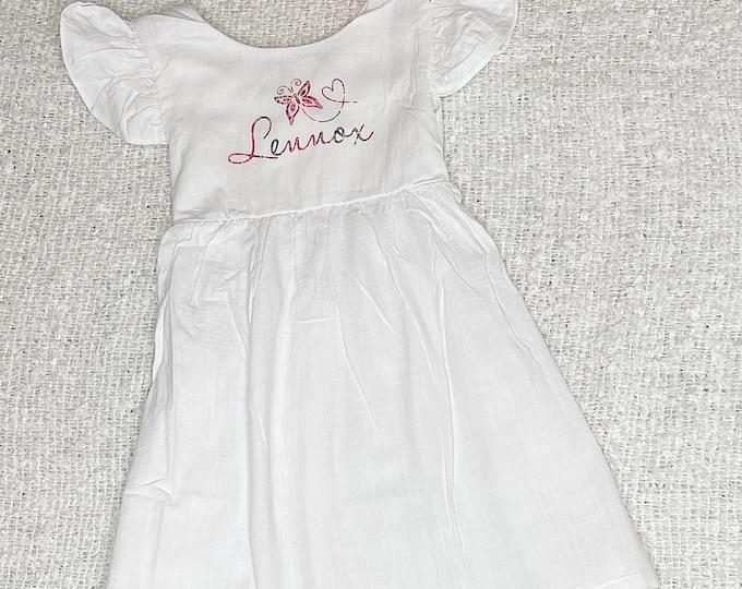 Personalised Kids Summer open back dress