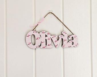 Personalised door sign
