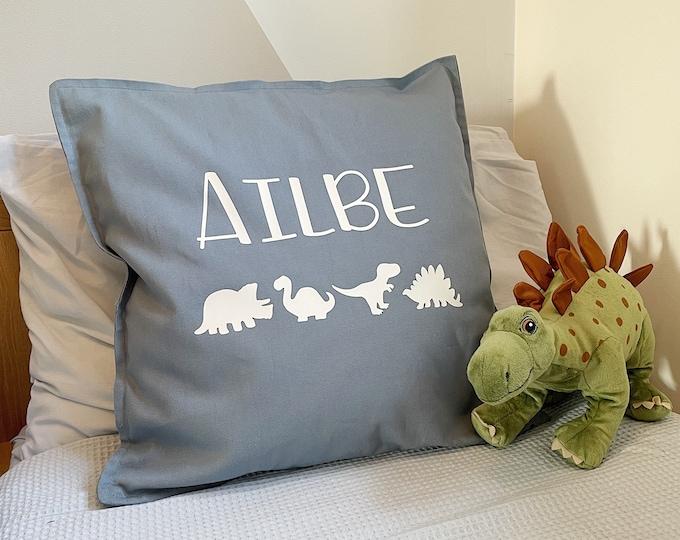Personalised Dino cushion