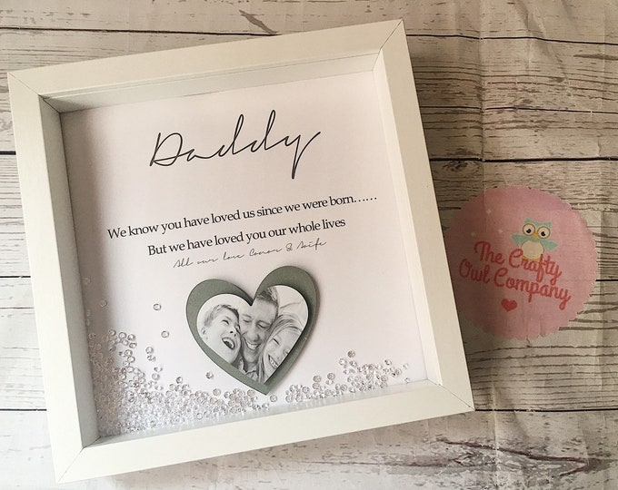 Personalised Father's Day birthday and anniversary framed gift