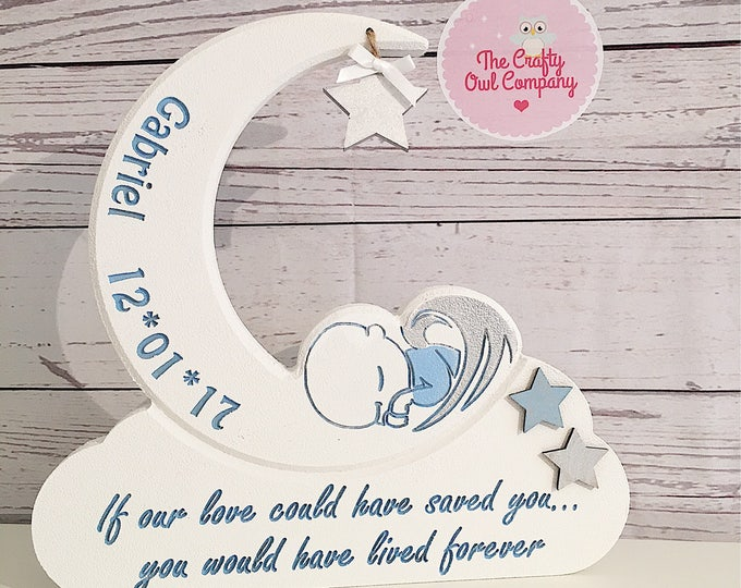 Baby memorial gift, infant loss memorial, baby sympathy gift, miscarriage gift, bereavement gift for parents