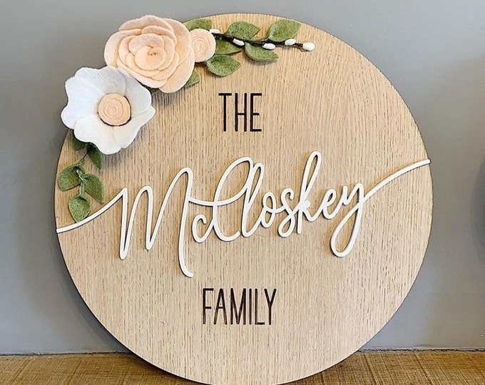 Personalised large family plaque