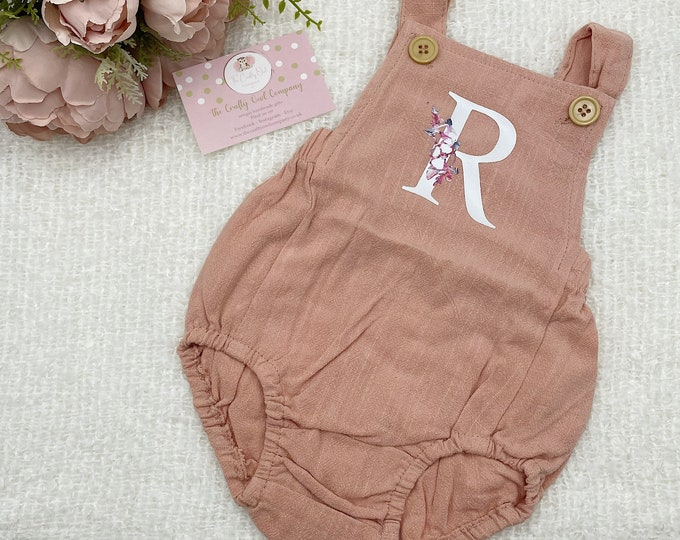 Baby girl personalised romper