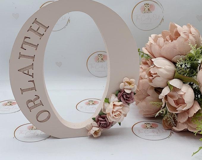 Engraved Floral letter