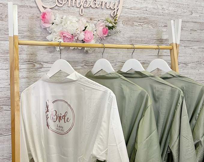Bridal party dressing gowns
