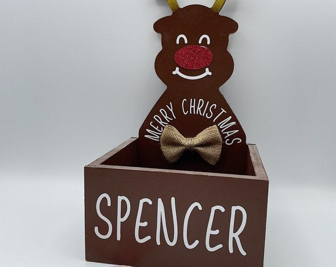 Personalised Reindeer christmas Box