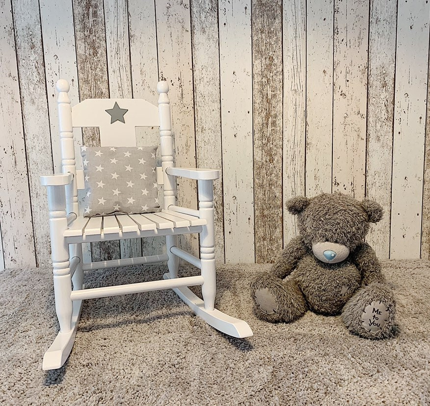 Brilliant Personalised Childrens Rocking Chair Bralicious Painted Fabric Chair Ideas Braliciousco
