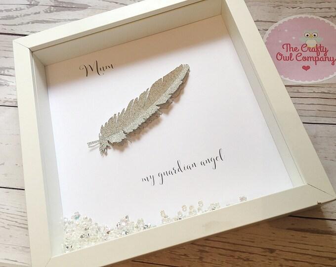 Feather memorial keepsake