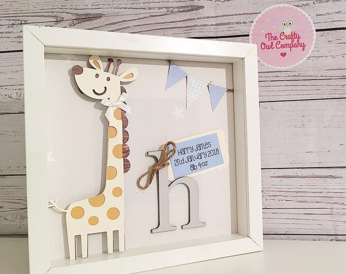 Personalised new baby framed gift