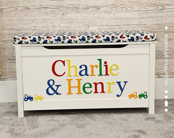 Personalised Tractor style toy box
