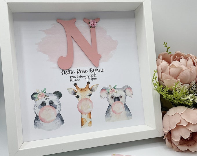 New baby Personalised Frame