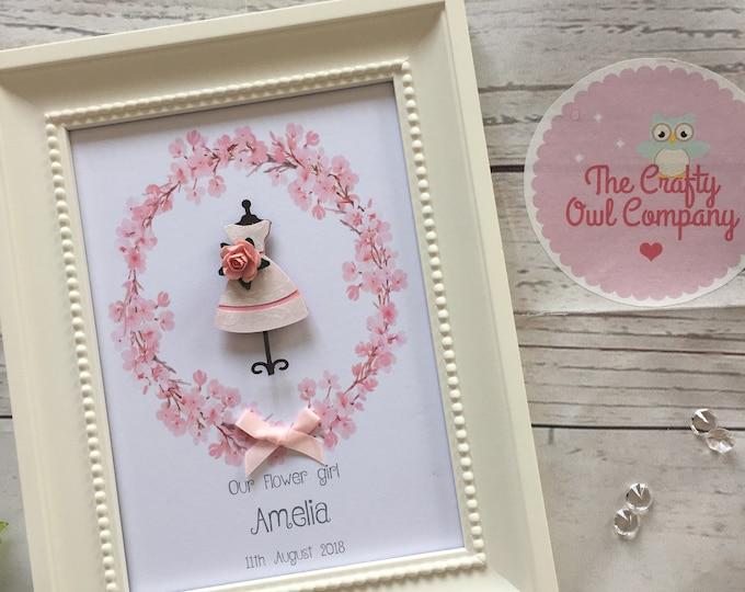 Bridesmaid - Flower girl - wedding keepsake - thank you gift