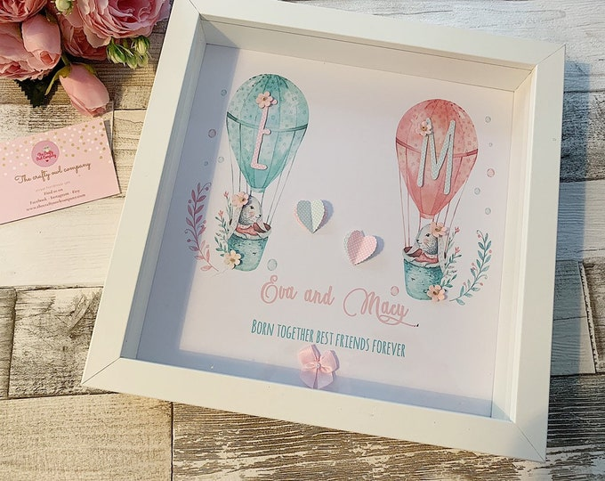 Personalised frame for twins
