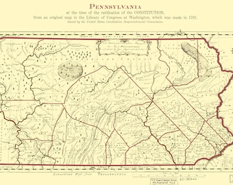 Art Print POCONOS Stroudsburg Map Topographical Watercolor Print Pennsylvania Block Plan Wedding Anniversary Gift Mountain Travel Decor