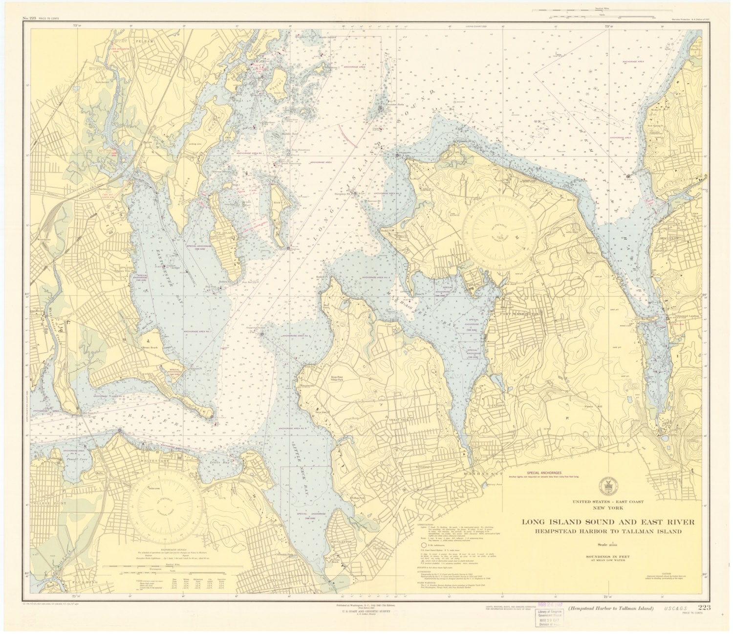 Long Island Sound Map East River Map 1947 Etsy - Long-island-on-us-map