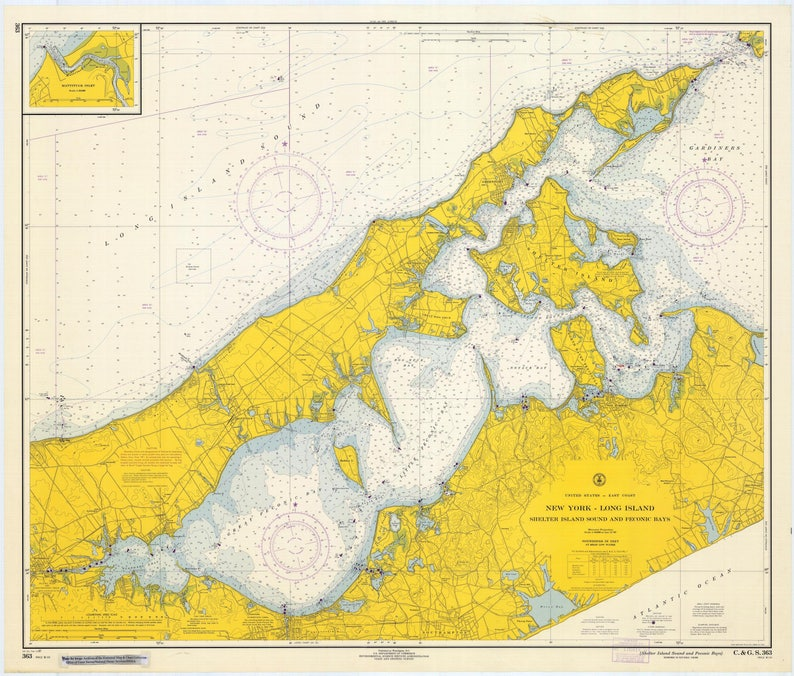 Shelter Island Sound Map & Peconic Bay Map - Long Island 1967 on rhode island waterways map, lincoln island map, st bonaventure map, whitestone map, blue point map, suffolk county map, fire island map, farmingdale map, east hampton map, asharoken map, brookhaven map, great river map, admiralty island map, sag harbor map, gardiners island map, islandia map, mission gorge map, longview lake shelter map, plum island new york map, rhode island sound map,
