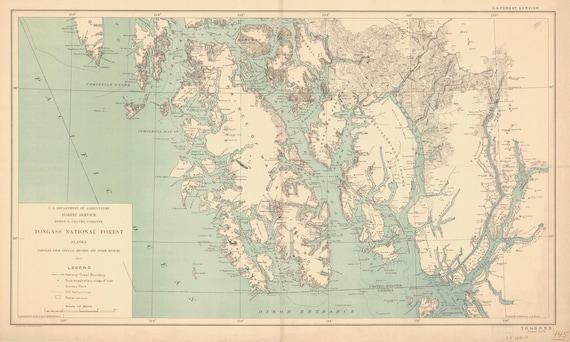 Tongass National Forest Alaska Map 1910