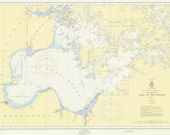 Lake of the Woods Historical Map 1955