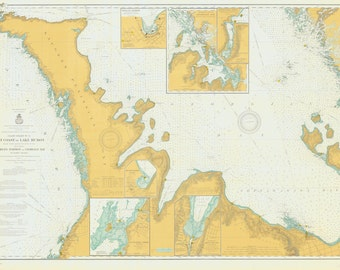 Lake Huron - East End - Georgian Bay Historical Map 1903