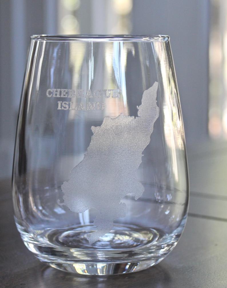 Chebeague Island Map Glasses