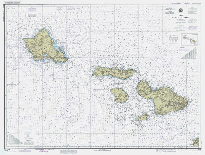 photo about Printable Map of Hawaiian Islands known as Hawaiian Islands Map - Hawaii toward Oahu Historic Map 1990