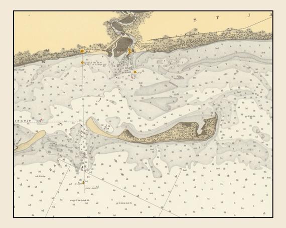 1936 Dog Island Map