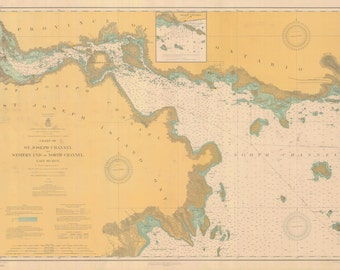 Lake Huron - St. Joseph Channel Map 1909
