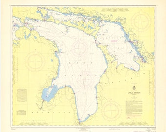 Lake Huron Map 1965