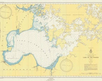 Lake of the Woods Map 1951