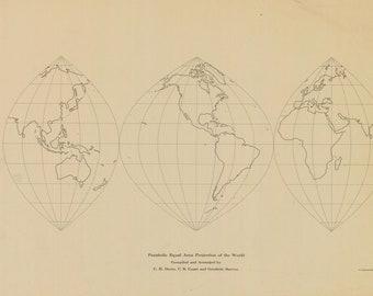 World Map Parabolic Equal Area