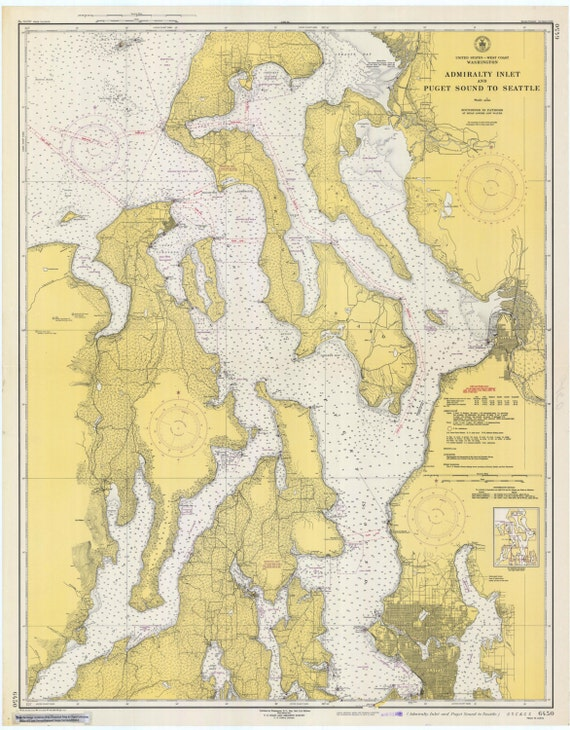 1948 World Map.Puget Sound Admiralty Inlet Historical Map 1948 Etsy