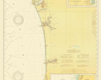 Lake Michigan - Eastern Shore Historical Map 1919