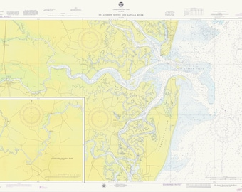 St. Andrew Sound and Satilla River Map 1976