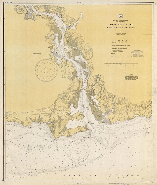 Connecticut River Map 1937 | Etsy