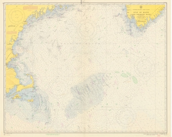 Gulf of Maine & George's Bank Map 1956
