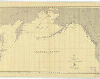 Bering Sea Map - 1892
