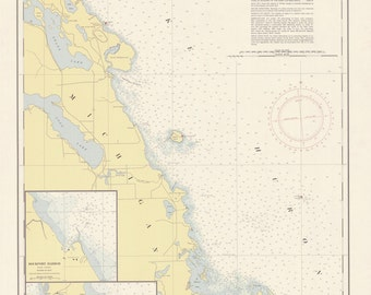 Lake Huron - Saginaw Bay Map 1955