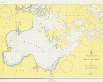 Lake of the Woods Historical Map 1945