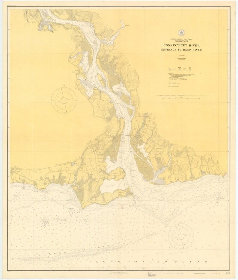 Connecticut River Map 1917 | Etsy