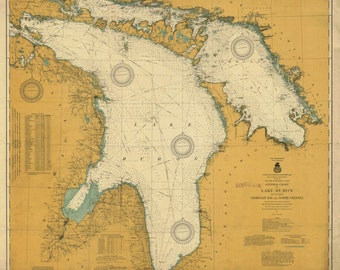 Lake Huron Map 1917