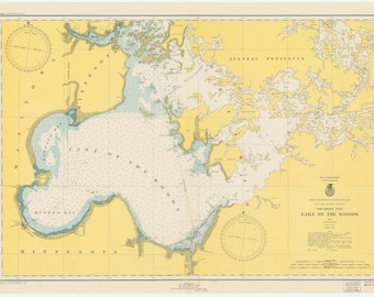 Lake of the Woods Historical Map 1949