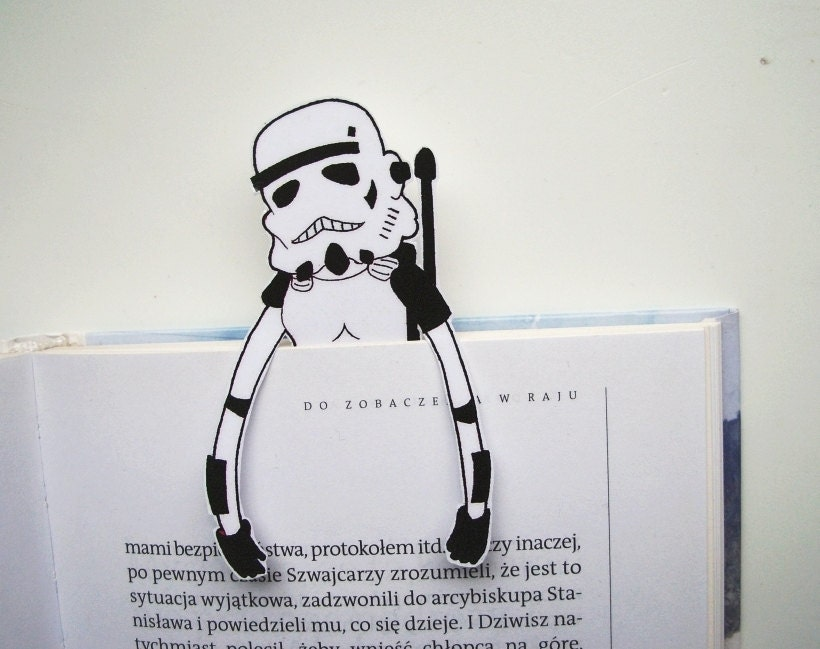 photo regarding Star Wars Bookmark Printable identified as Star wars printable bookmark - stormtrooper