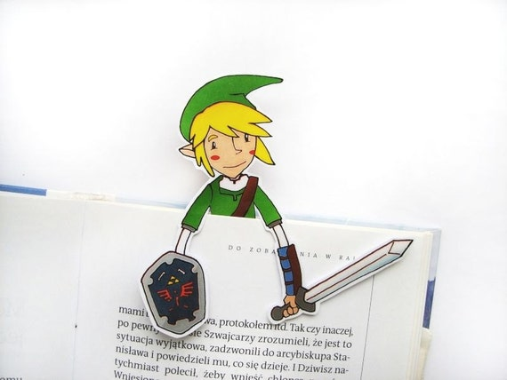 Legend Of Zelda Printable Bookmark Link Birthday Gift For