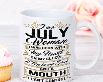 July Birthday Gift Mug Woman Birth Month Born In Gifts For Her