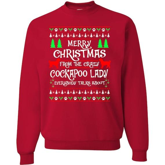 Ugly Dog Christmas Sweaters.Cockapoo Ugly Christmas Sweater Cockapoo Funny Christmas Sweater Ugly Xmas Dog Christmas Tee Ugly Sweater Party Cockapoo Mom