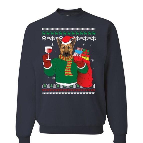 German Shepherd Christmas Sweater.German Shepherd Dog Ugly Christmas Sweater Funny Christmas Sweater Gsd Gift Ugly Xmas Dog German Shepherd Mom German Shepherd Art